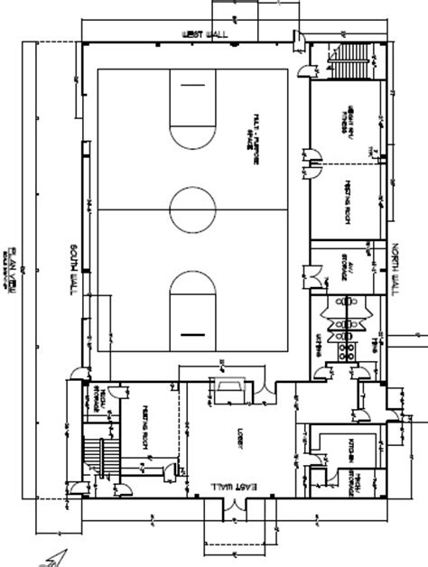 gymnasium floor plans facilities descriptions bear lake c