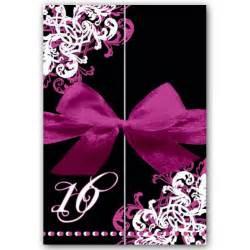 ornamental corner pattern gatefold sweet 16 invitations paperstyle