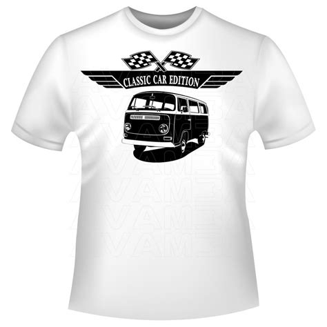 T Shirt Vw 2 t2 bulli 1967 1979 oldtimer t shirt