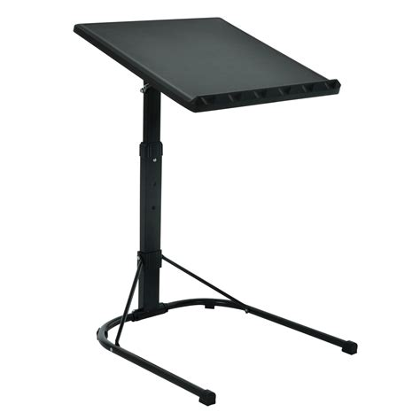 Folding Black Laptop Table Adjustable Height Portable Adjustable Height Laptop Stand For Desk