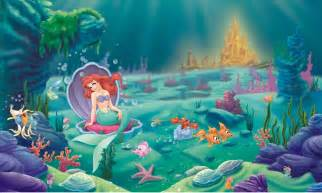 Mermaid Wall Murals Little Mermaid Wallpaper Mural Disney Princess Ariel