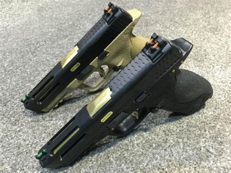 Blackcat Airsoft Aluminum Grip De we airsoft m p gbb pistol black de popular airsoft