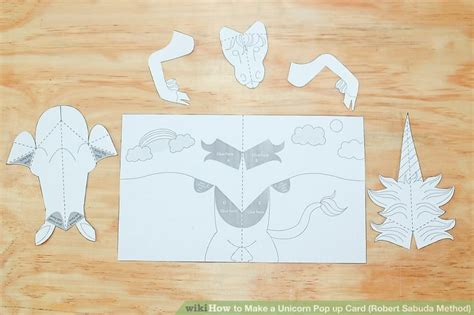 Unicorn Pop Up Card Template by How To Make A Unicorn Pop Up Card Robert Sabuda Method