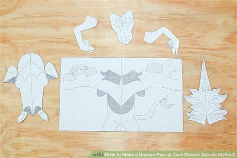 unicorn pop  card robert sabuda method