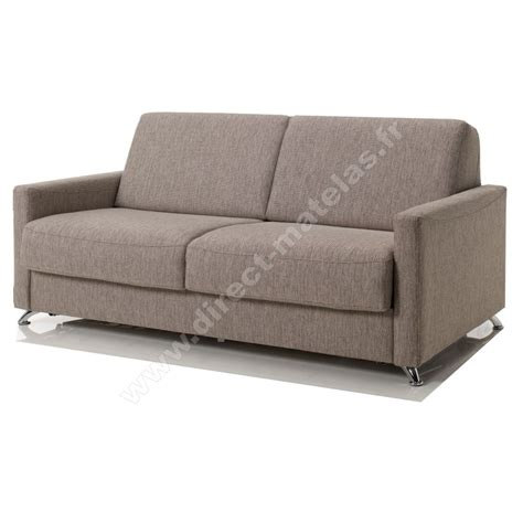 canap駸 m canap 233 convertible d m luigi tissu chin 233 taupe couchage