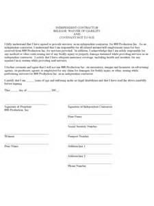 waiver of liability template free contractor liability waiver form 2 free templates in pdf