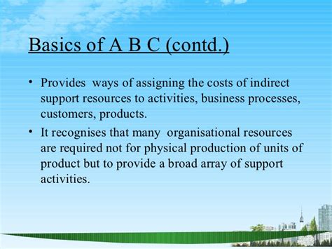 How Many Units Are Required For An Mba by Activity Based Costing Ppt Mba Finace