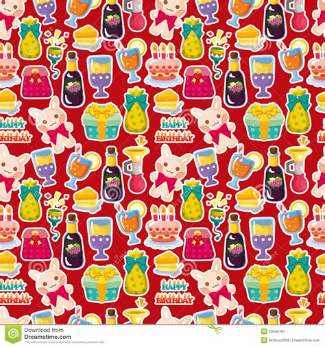 Seamless Pattern Birthday | seamless birthday pattern royalty free stock photography
