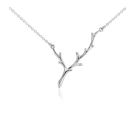 Necklace In Sterling Silver by Branch Necklace In Sterling Silver Blue Nile