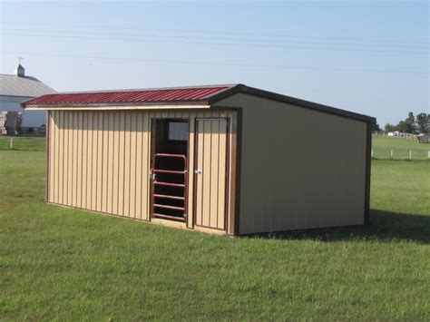 Tack Shed by Run In Shed With Tack And With Feed Room