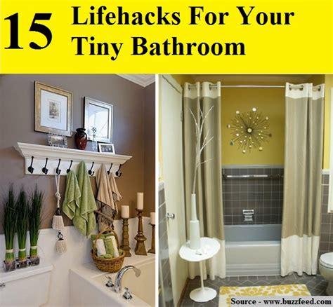 Tiny Bathroom Hacks Buzzfeed 15 Lifehacks For Your Tiny Bathroom Home And Tips
