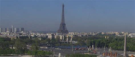 webcam paris skyline  eiffel tower view europe