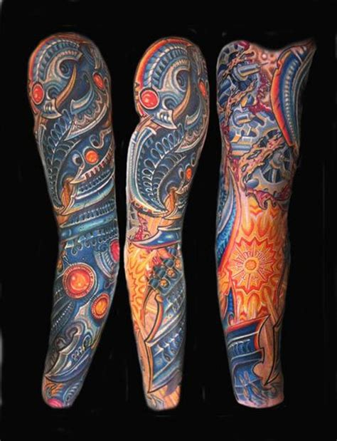full arm tattoo design biomechanical sleeve tattoos tattoofanblog