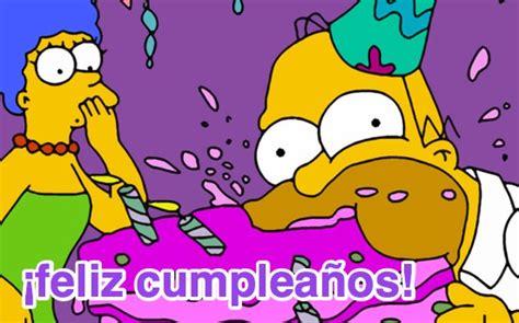 imagenes de happy birthday de los simpson im 225 genes de cumplea 241 os con los simpsons
