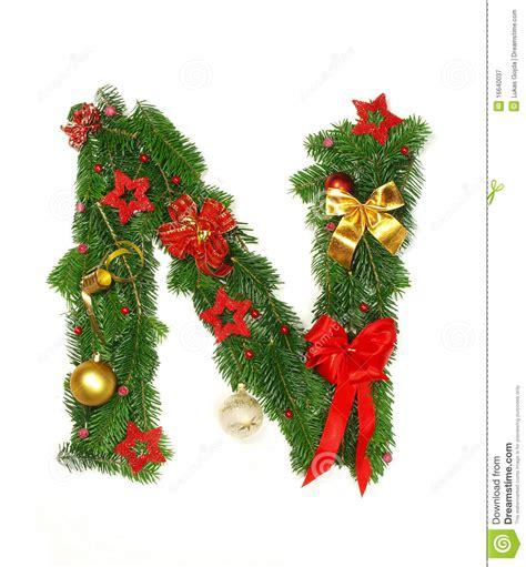 christmas alphabet letter n stock image image 16640037