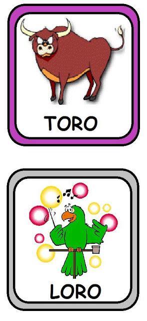 imagenes de palabras que riman para niños tarjetas con palabras que riman para ni 209 os