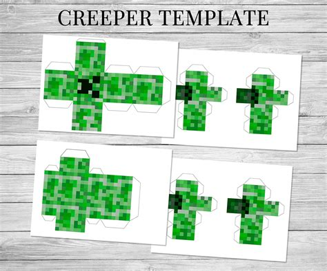 Minecraft Papercraft Pdf - minecraft printable steve creeper minecraft birthday