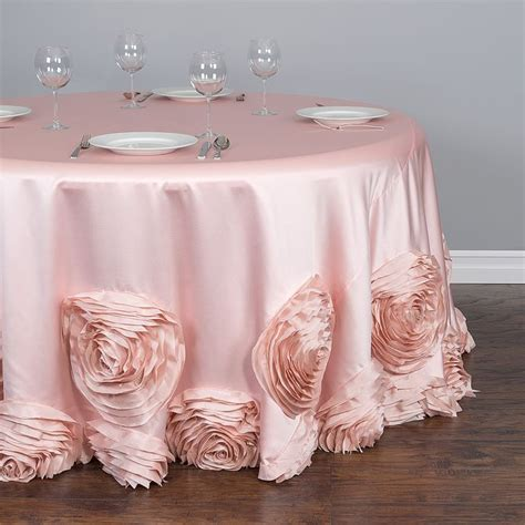 light pink 120 round tablecloth 120 in round taffeta rosette tablecloth blush pink pink