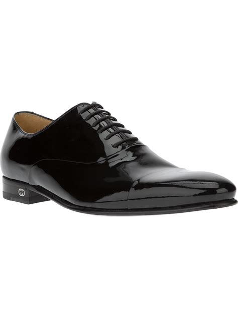gucci oxford shoes gucci patent oxford shoes in black for lyst