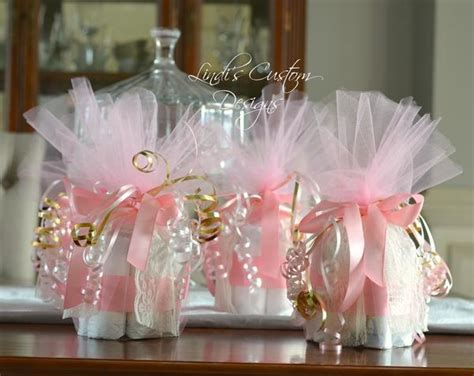 pink gold baby shower diaper decor lindis custom designs