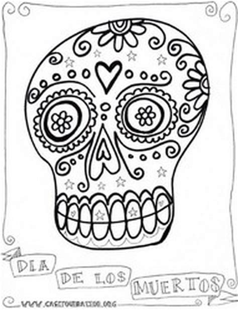 free day of dead coloring pages