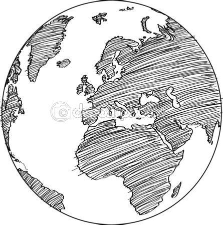 cartoon earth tattoo drawn globe small pencil and in color drawn globe small
