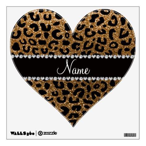 cheetah wall stickers custom name gold glitter cheetah print wall stickers zazzle