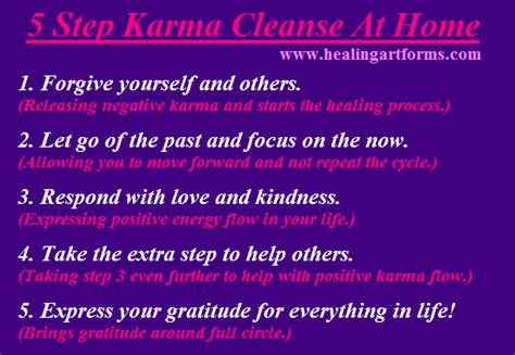 Detox Karma by 5 Step Karma Cleanse At Home Reiki With Friends