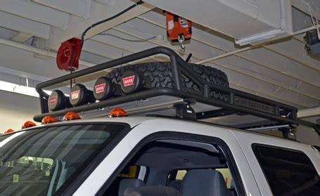 Warn Roof Rack by Warn Industries Sema F350 Project Bumper Winch Lights