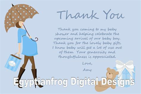 thank you note template baby shower blue baby bump pregnancy baby shower thank you notes you
