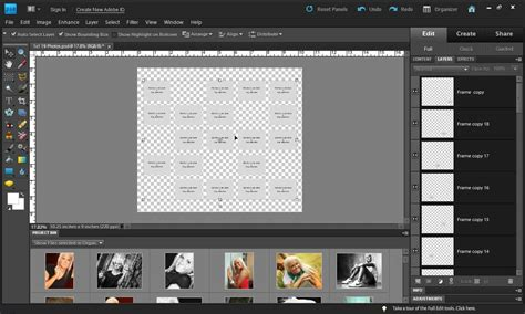 free templates for photoshop elements image gallery montage photo elements 8