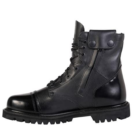 lightweight duty boots rocky mens black leather lightweight 7in side zipper jump