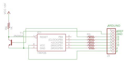 high voltage serial programming avr arduino avr high voltage serial programmer