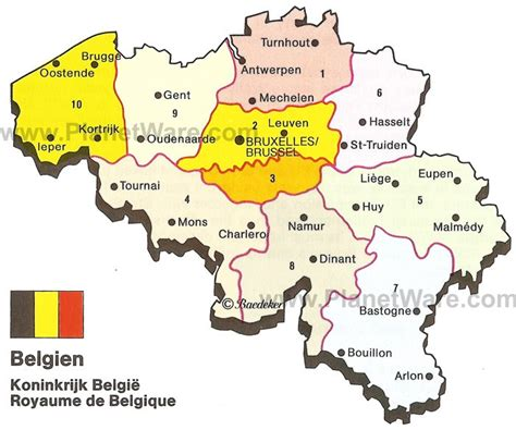 map of belgium and map of kingdom of belgium planetware