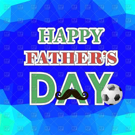 fathers day posters happy fathers day poster on blue polygonal background