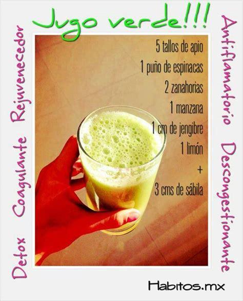 Jugos Detox Recetas by Jugo Verde Descongestionante Antiinflamatorio