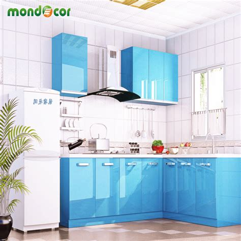 best glue for kitchen cabinets new glossy pvc waterproof self adhesive wallpaper for