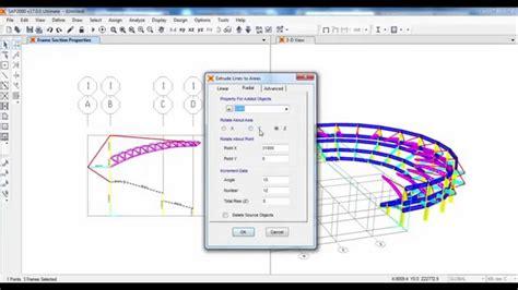 sap2000 section designer sap2000 structural modeling of stadium structure 01