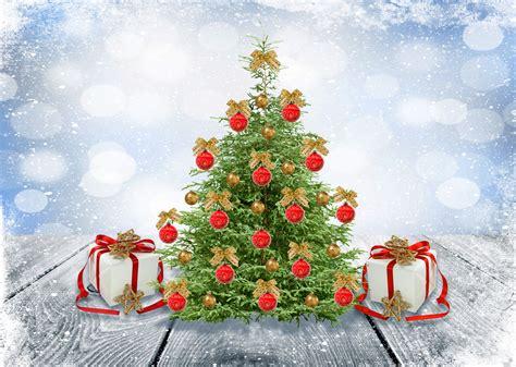 fondo de pantalla regalos arbol de navidad nieve hd