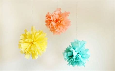 Crepe Paper Pom Poms How To Make - crepe paper pom poms tutorial pictures photos and