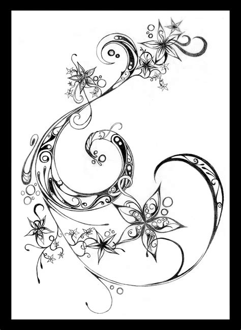 star and swirl tattoo designs flowers and swirls by fairyality on deviantart