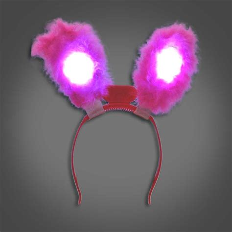 light up bunny ears extreme glow lighted rabbit ears