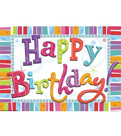 Bday Party Decorations At Home Radiant Happy Birthday Poster A3