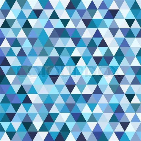 Mosaik Muster Vorlagen Drucken Geometrische Mosaik Muster Blauen Dreieck Textur Abstrakte Vektor Hintergrund Illustration