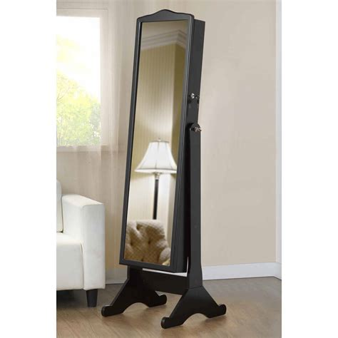 qvc mirrored furniture mirror stand up jewelry box standing qvc interior sealy gel ortho 660