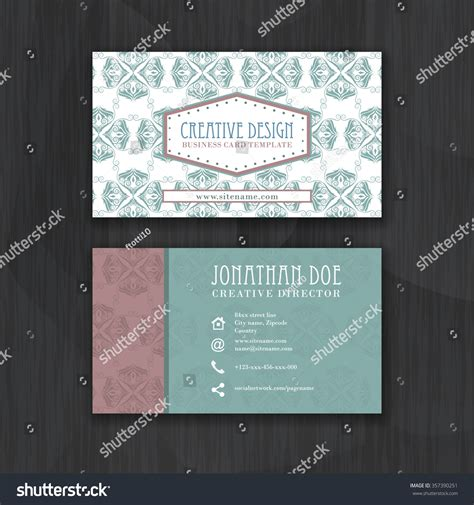 business card template millions of users vintage floral business card template personal stock