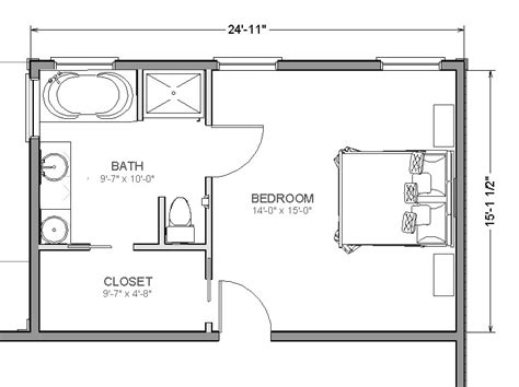 Bedroom Bathroom Floor Plans | master suite addition add a bedroom