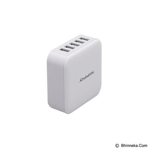 Hippo Penta Charger Adapter 5 Port jual hippo penta simple pack white murah bhinneka
