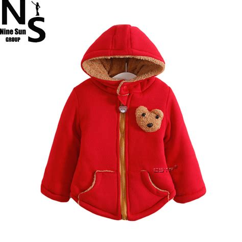 pattern red winter clothes top ns new arrival girls winter jacket cartoon pattern