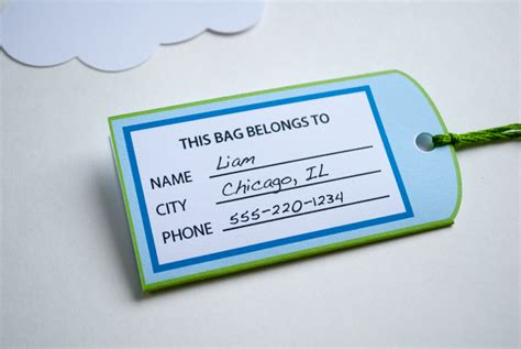 printable paper luggage tags airplane favor bag goodie bag luggage tags personalized